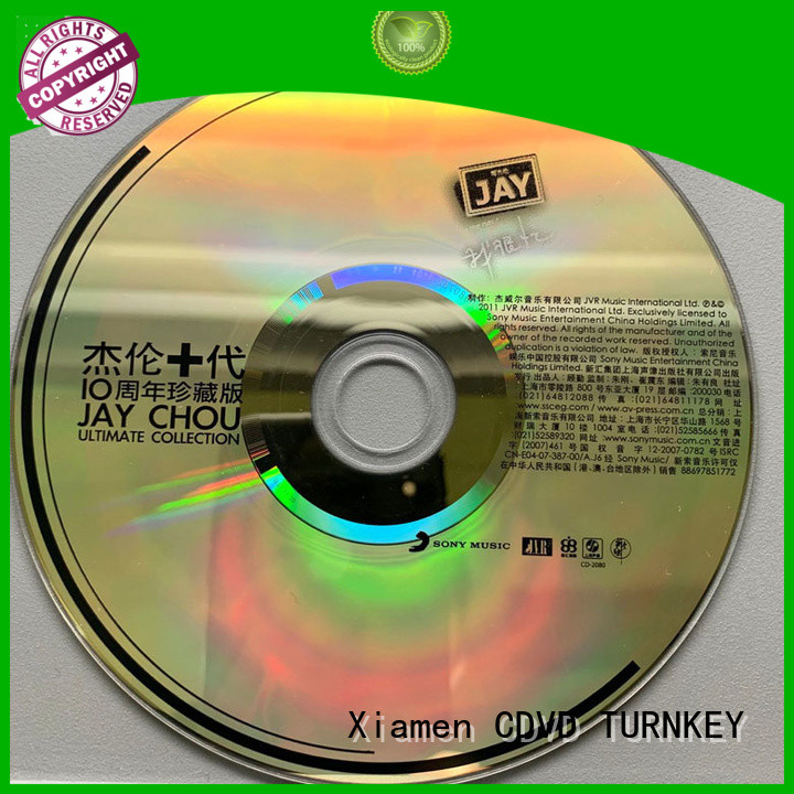 TURNKEY professional cd dvd blu ray advanced technology for bands
