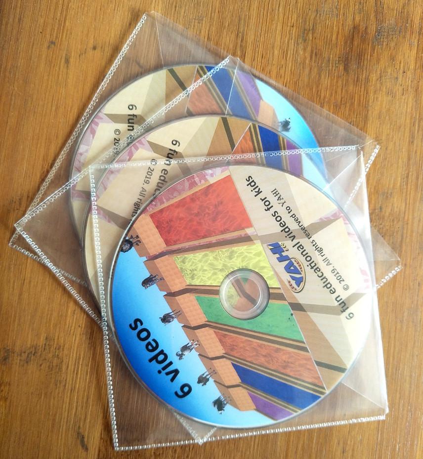 CD DVD in paper sleeve, plastic sleeve package