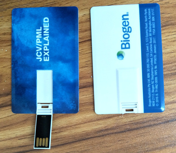 CARD USB DRIVE with color printing on two sides