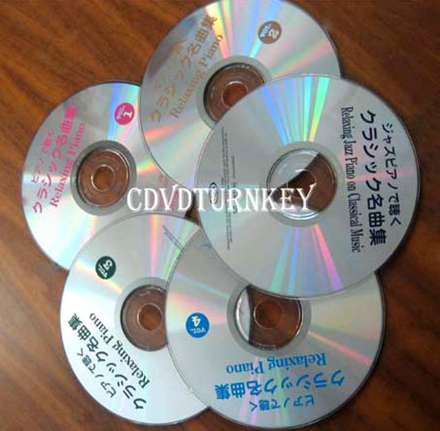 12cm and 8cm CD/DVD disc mass produce by pressing from replication machine
