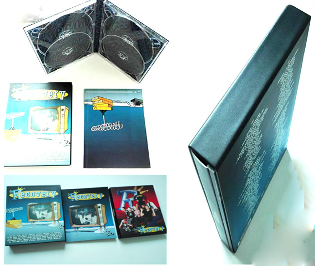 Hardcover slipcase box 1200g printed 4 colour process + Matt Cello 1 side 350g booklet
