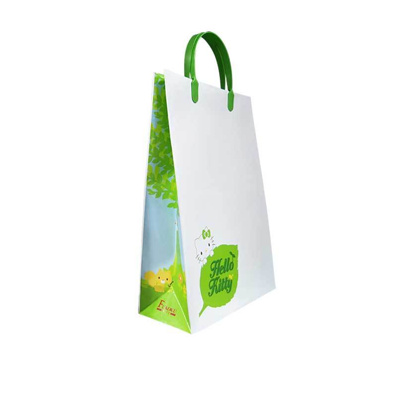 handmade paper bags with plastic handle