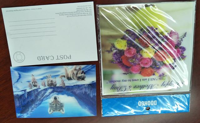 3d Greeting cards,3D Bookmarks,3D Postcards