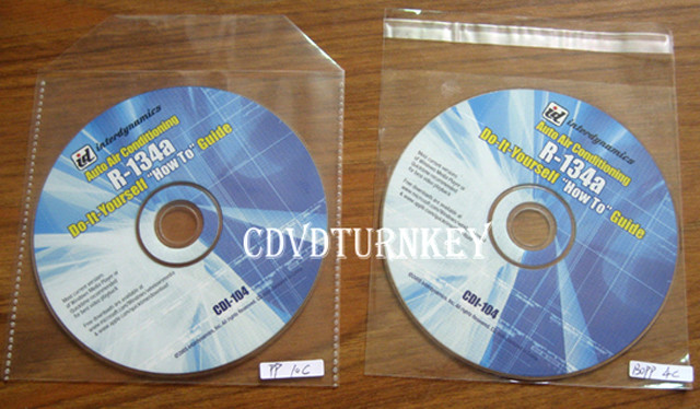 CD DVD in Bopp 3c sleeve packaging