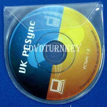 mini cd dvd in mini plastic sleeve