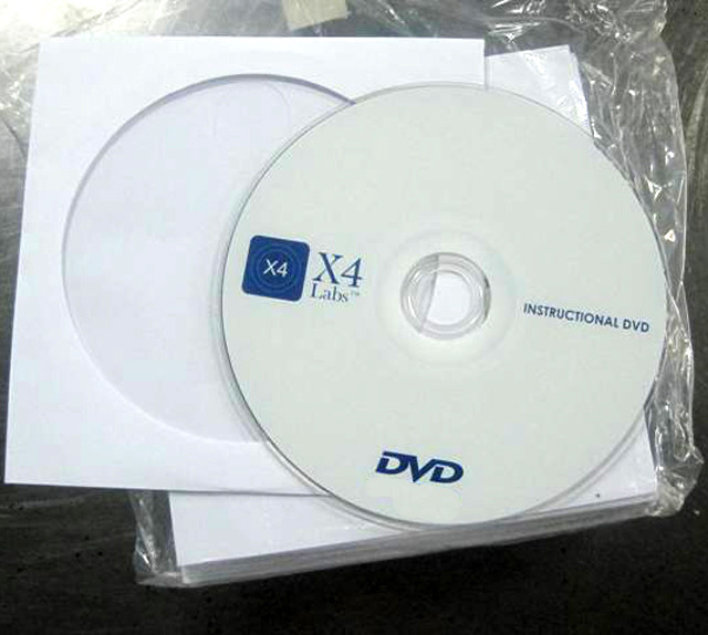 cd dvd in white paper sleeve with windows packaging
