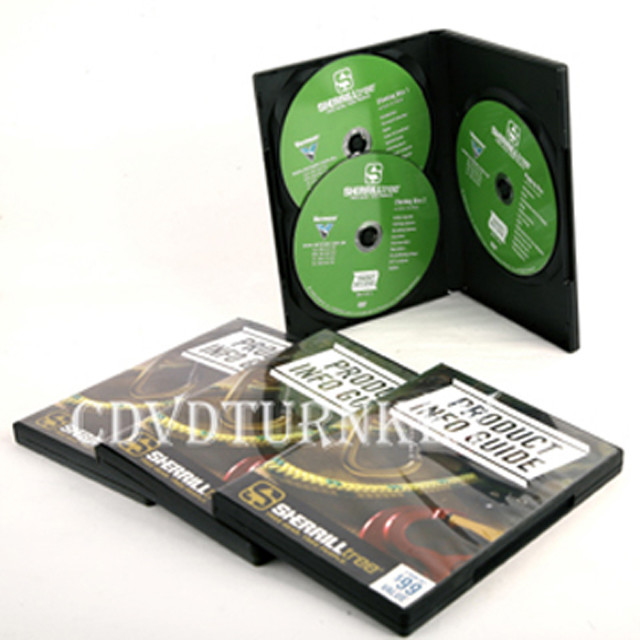 3pcs dvd in 14mm dvd case packaging