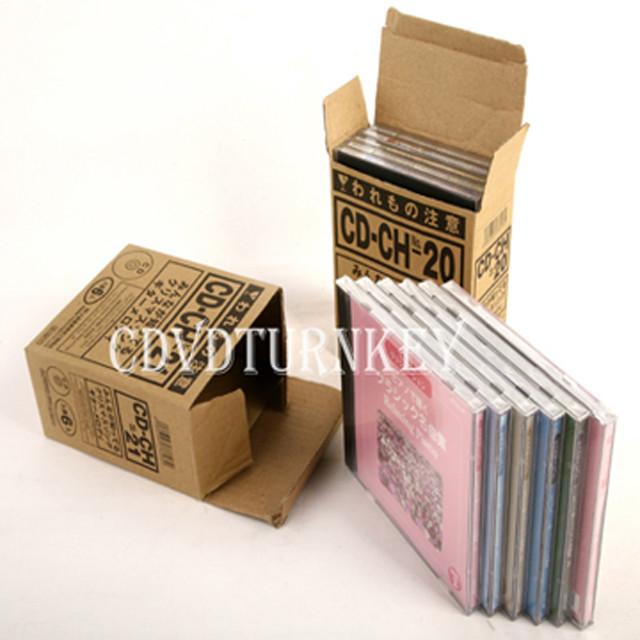 cd in jewel case packaging and per 10pcs in one carton box