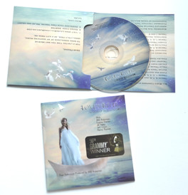 cd in 4panel cardboard for piano album packaging