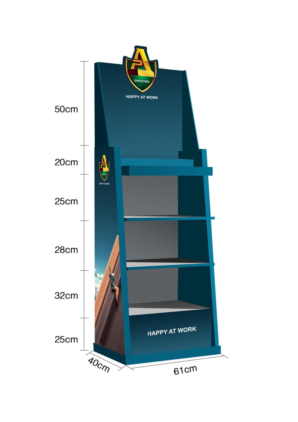 printed Corrugated Floor Display stand