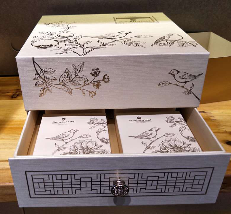 Top/lid and bottom/base rigid box with inner cardboard box