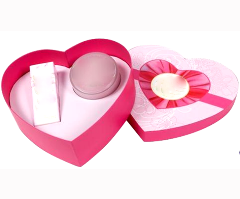 Heart- shape Custom Cosmetic Box