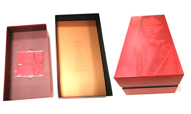Luxury Two Pack Red Wine Rigid Box Of A Top And Bottom Box Style