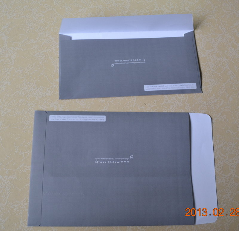 COMMERCIAL ENVELOPES design by Top open or Side open
