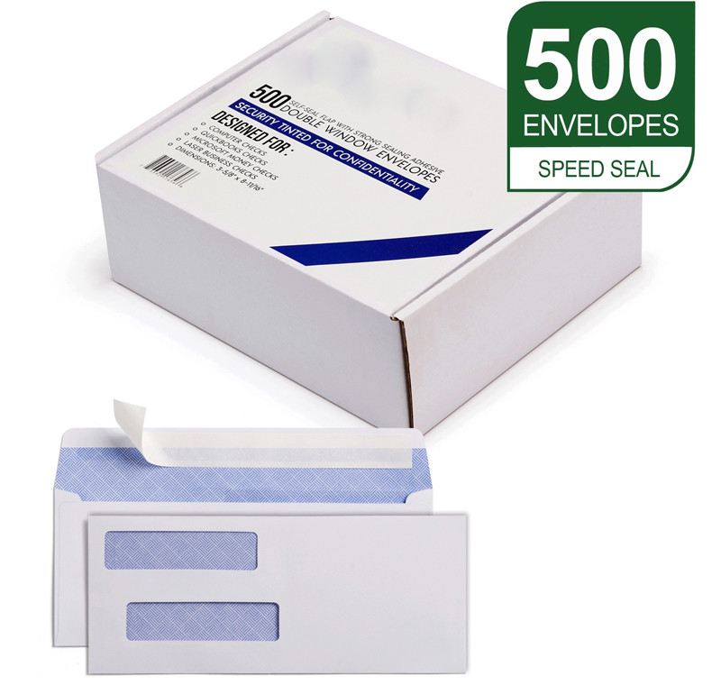 500 pcs packaging #9 Window Security Privacy Envelopes