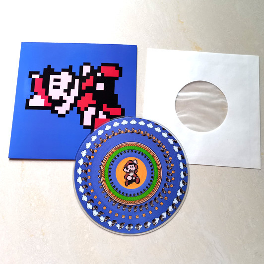 """7"""" pictures Vinyl Record in white inner paper be packed by 250g flat jacket"""