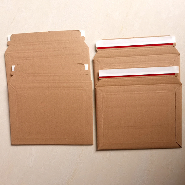 Bronze or white E/F flute board corrugated business envelopes