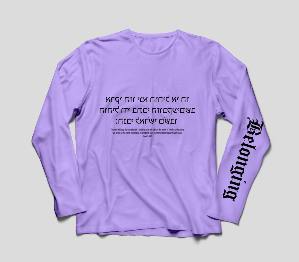 Long sleeve size and printing are customized