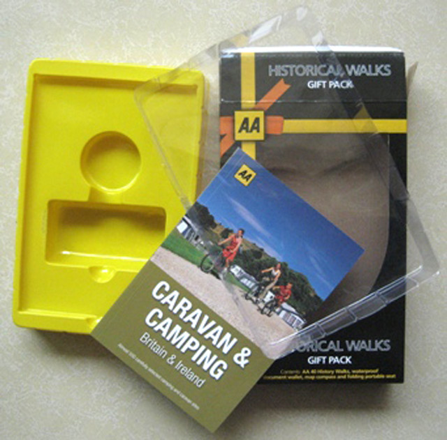 Custom clear window on the top with color PVC blister insert printed cardboard packaging box