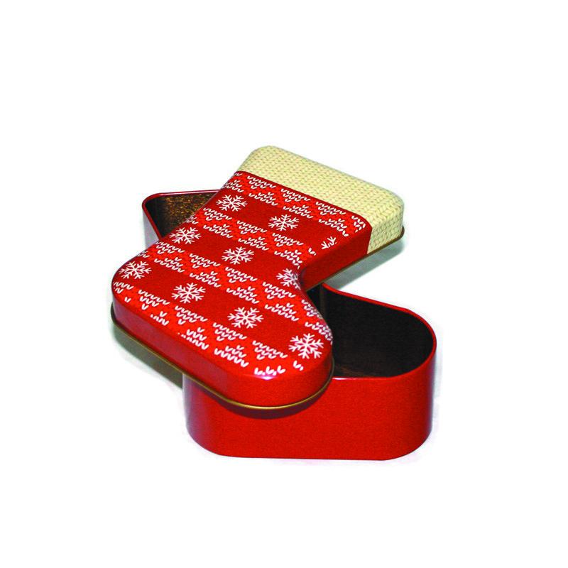 Shoe-shaped tin box