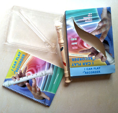 Recorder learning cultrule education gift boxset packaging with book blister box