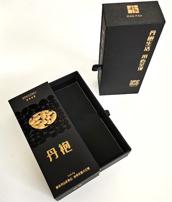 Custom OEM Customized Embossing Gold Foil Logo Matte soft touch Black Printing push-pull type storage Boxes Factory From China