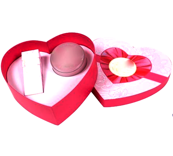 OEM Customized rigid paper gift cosmetic heart shaped box manufacturer