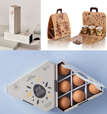 Top Quality supply fashionable food gift printedcollapsible with handle cardboard packaging box Factory