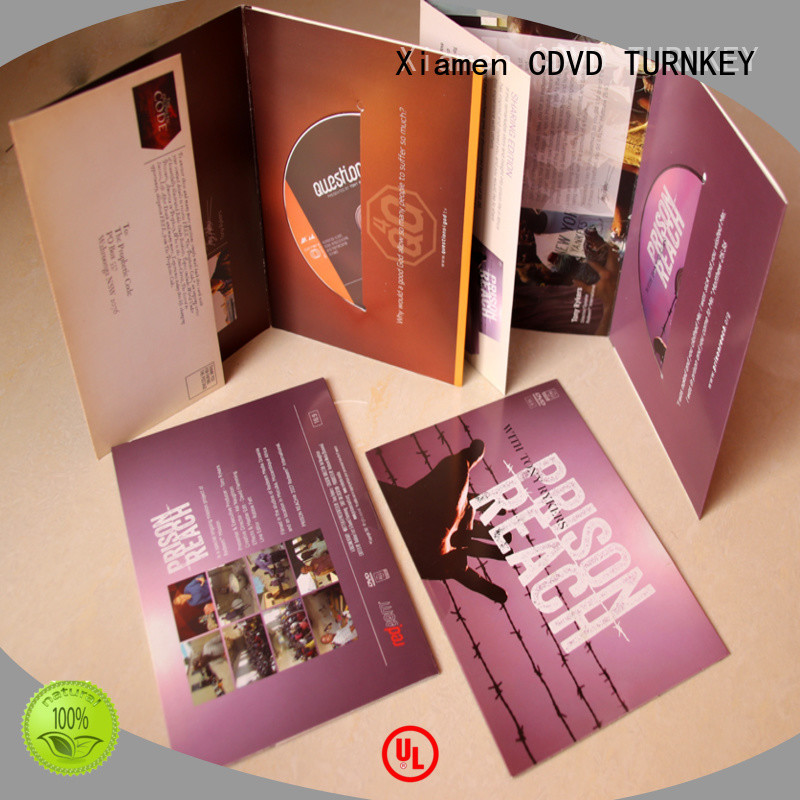 TURNKEY good price cardboard CD jackets printing directly sale for factory buildings
