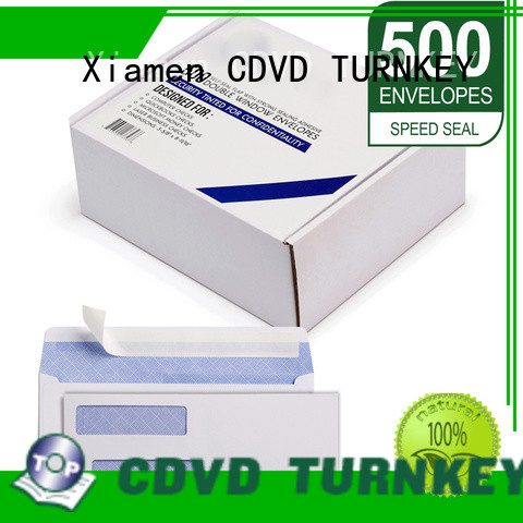TURNKEY 350g envelope with windows services for hotel