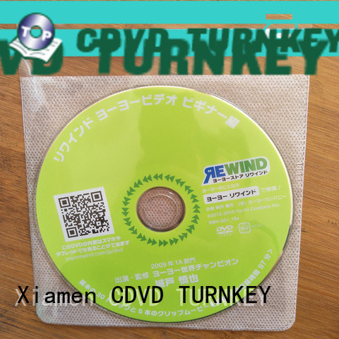 TURNKEY high-quality dvd plastic sleeves factory sale for plant