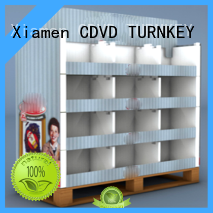 TURNKEY display corrugated printing box directly sale for air port
