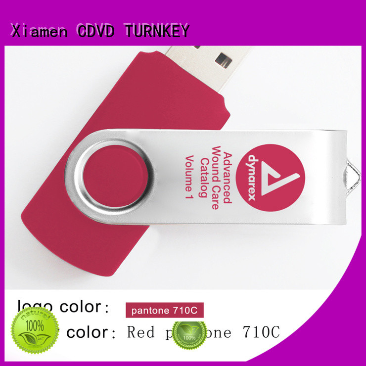 TURNKEY plastic pendrive for business for hotel