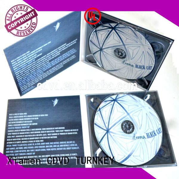 TURNKEY 10panel dvd digipak company for restaurant