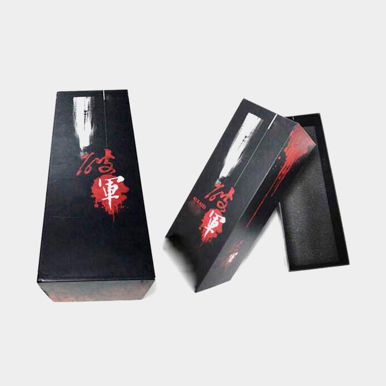 Black Matt Wine Gift Box/Anniversary Wine Bottle Package Box