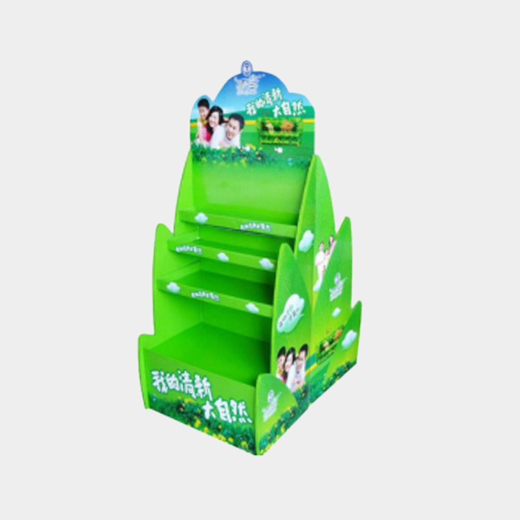 Cardboard Walmart House Shaped Booth Promotional Use Floor Display  Rack