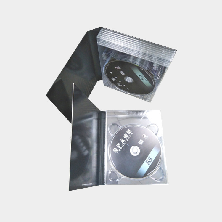 Best Quality Multi DVD Blu-ray digi tray with clips and printing cardboard with slipcase digipak boxset packaging Factory