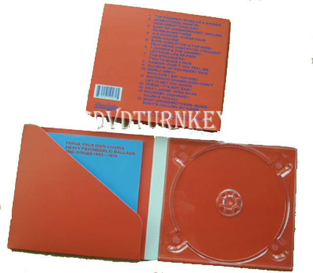 4 panel cd digipak with&without pocket design for booklet