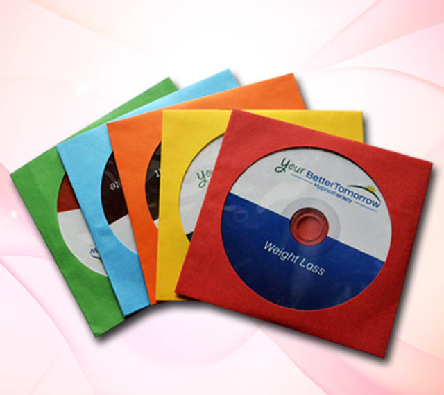 cd in paper sleeve 80g/100g white or color with windows