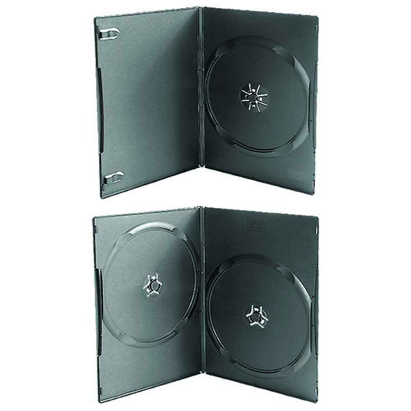 7mm 9mm 14mm single or double black dvd case