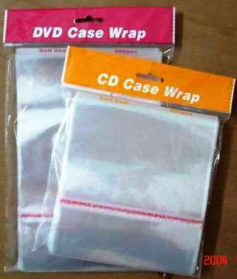 BOPP 3C/4C CD and DVD plastic sleeve with adhesive tape