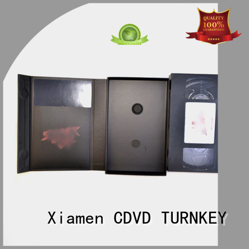 TURNKEY stronger CD hardboard box from China for video