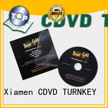 TURNKEY duplication cd jacket factory for buildings