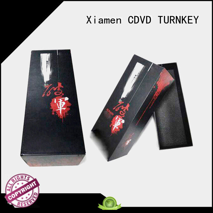 TURNKEY elegant wine gift box packaging environmental protection for work