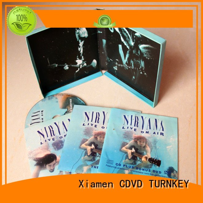 TURNKEY Customized cd box factory for person