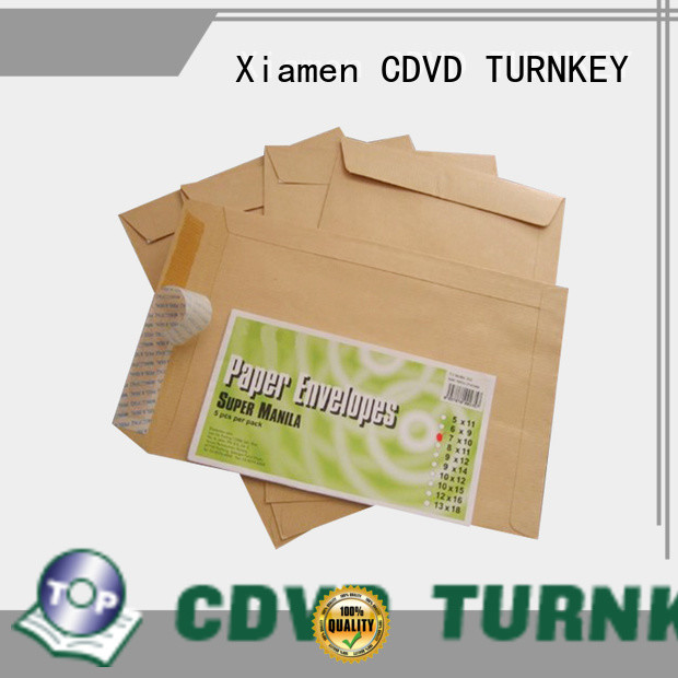 clear style custom made envelopes by services for hotel