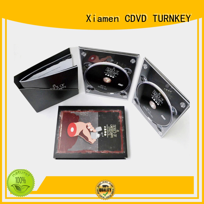 TURNKEY different size dvd digipak trays transfer services cd for computer