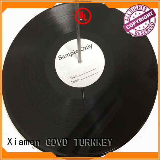 TURNKEY record vinyl record manufacturing printing and binding for hotel