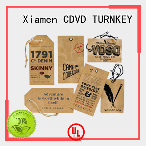 TURNKEY simple custom printed hang tags directly sale for guesthouse