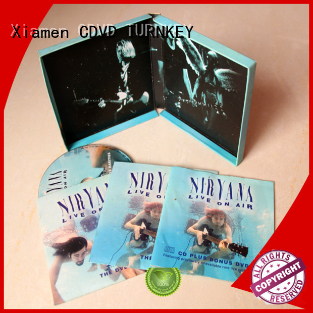 TURNKEY cd square box size for video